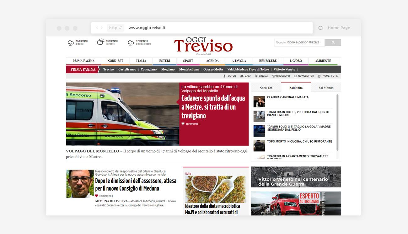 Quotidiano online OggiTreviso