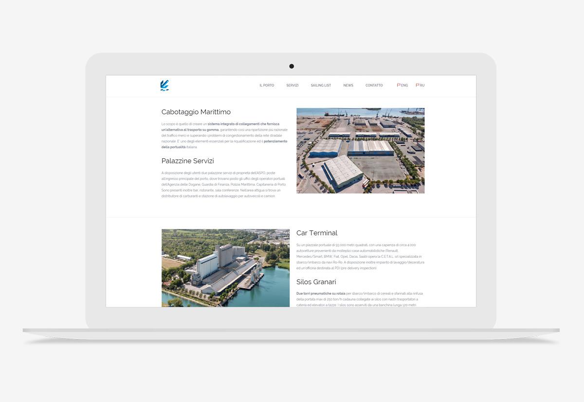 Sito web Porto di Monfalcone