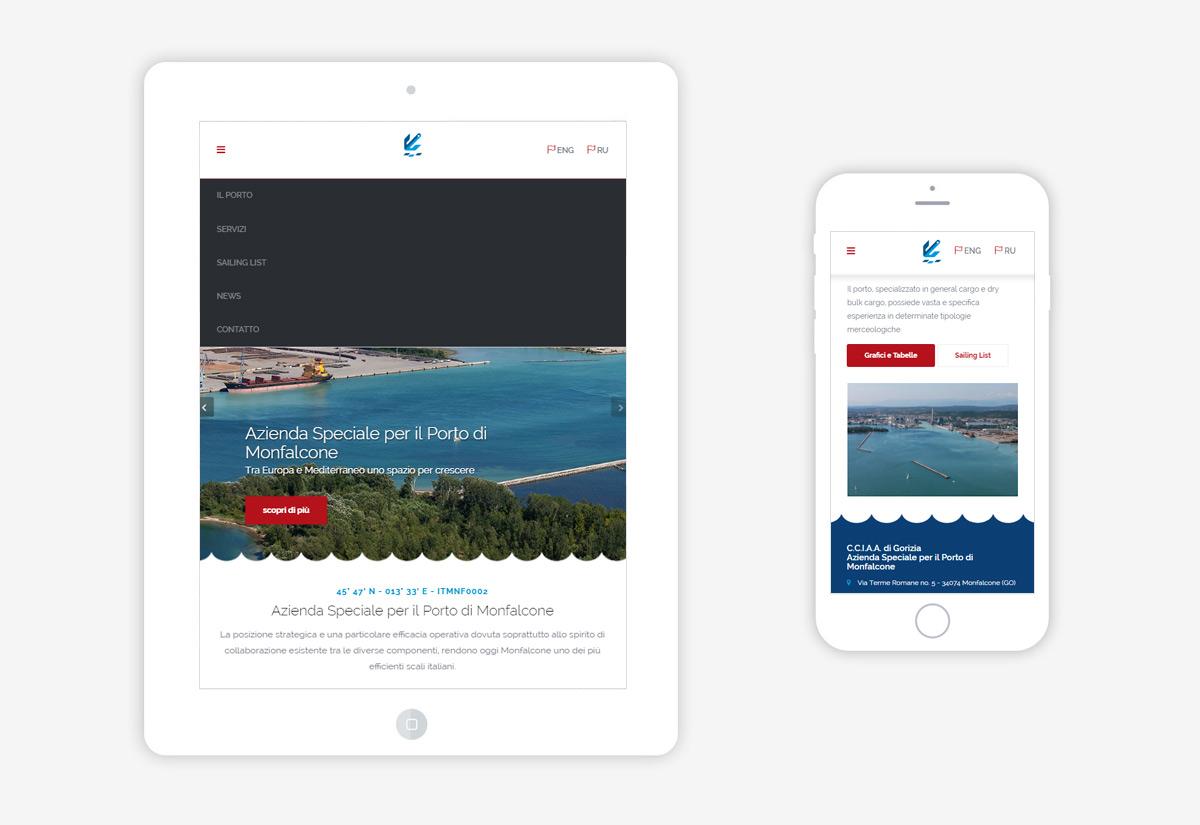 Web responsive Porto di Monfalcone