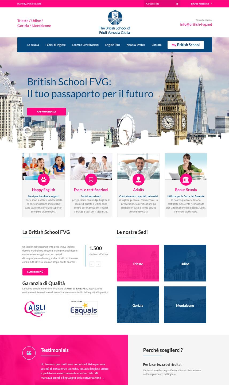 Sito web British School FVG