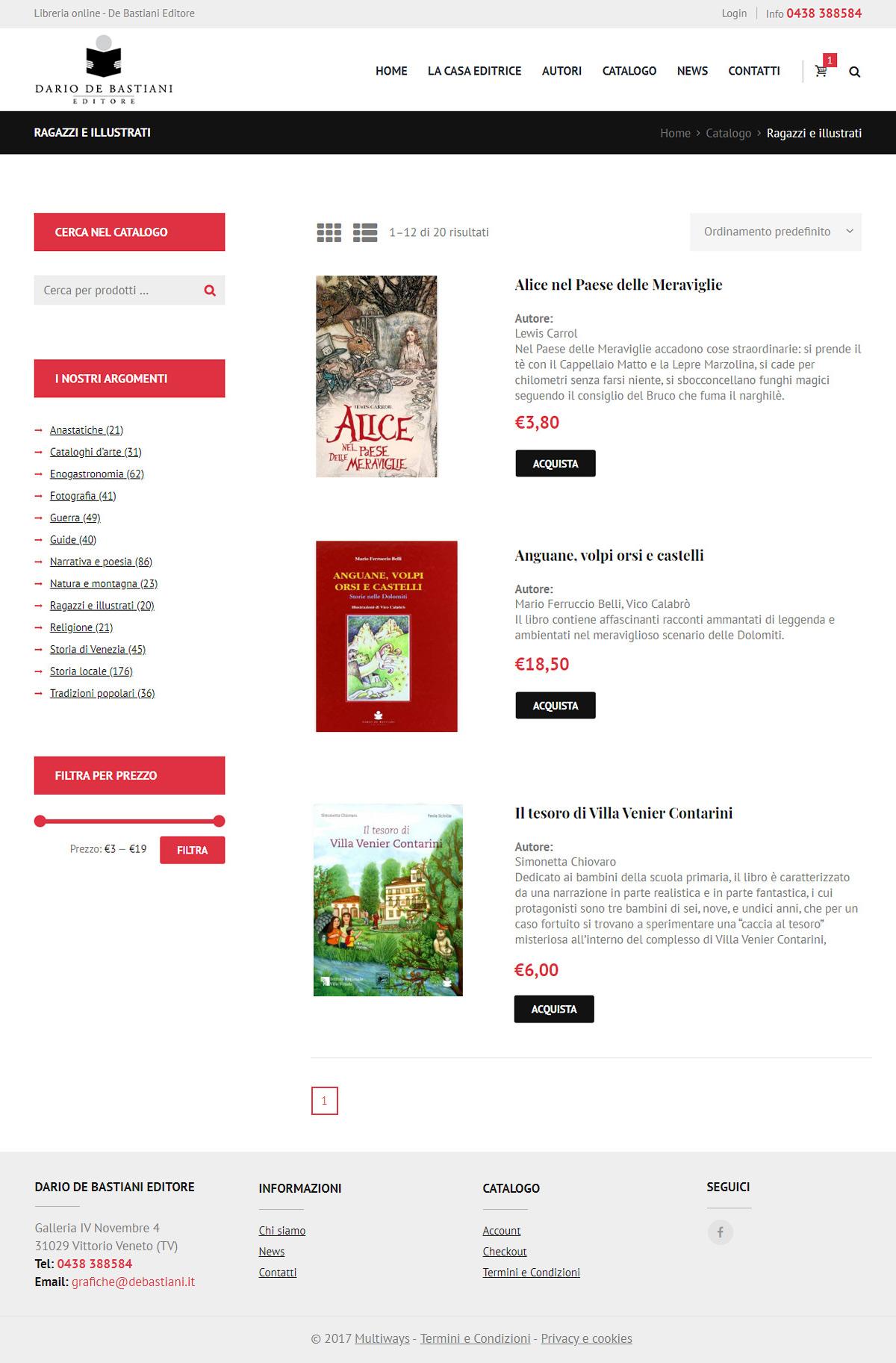Catalogo libri De Bastiani Editore