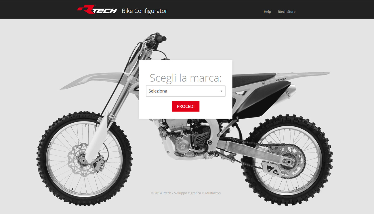 Bike configurator Rtech