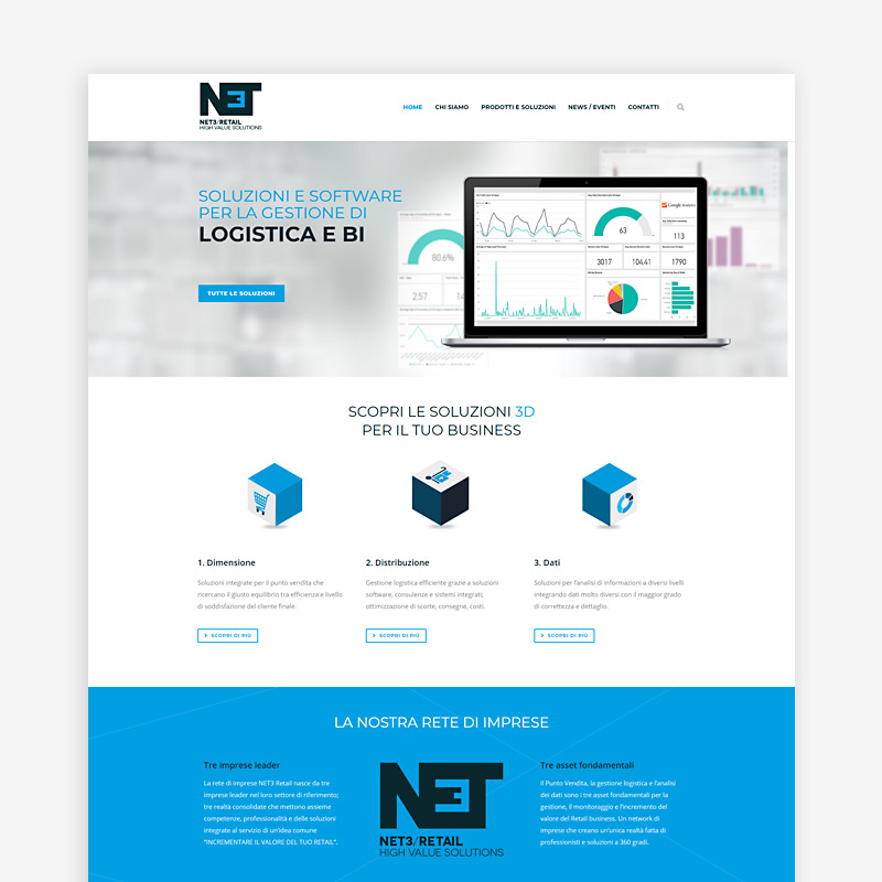 Sito internet Net3 Retail