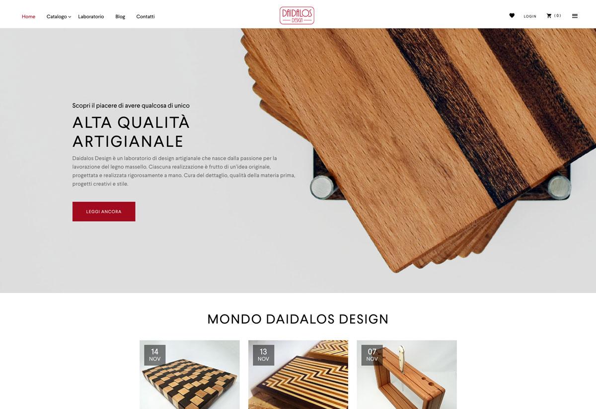 Daidalos Design ecommerce project