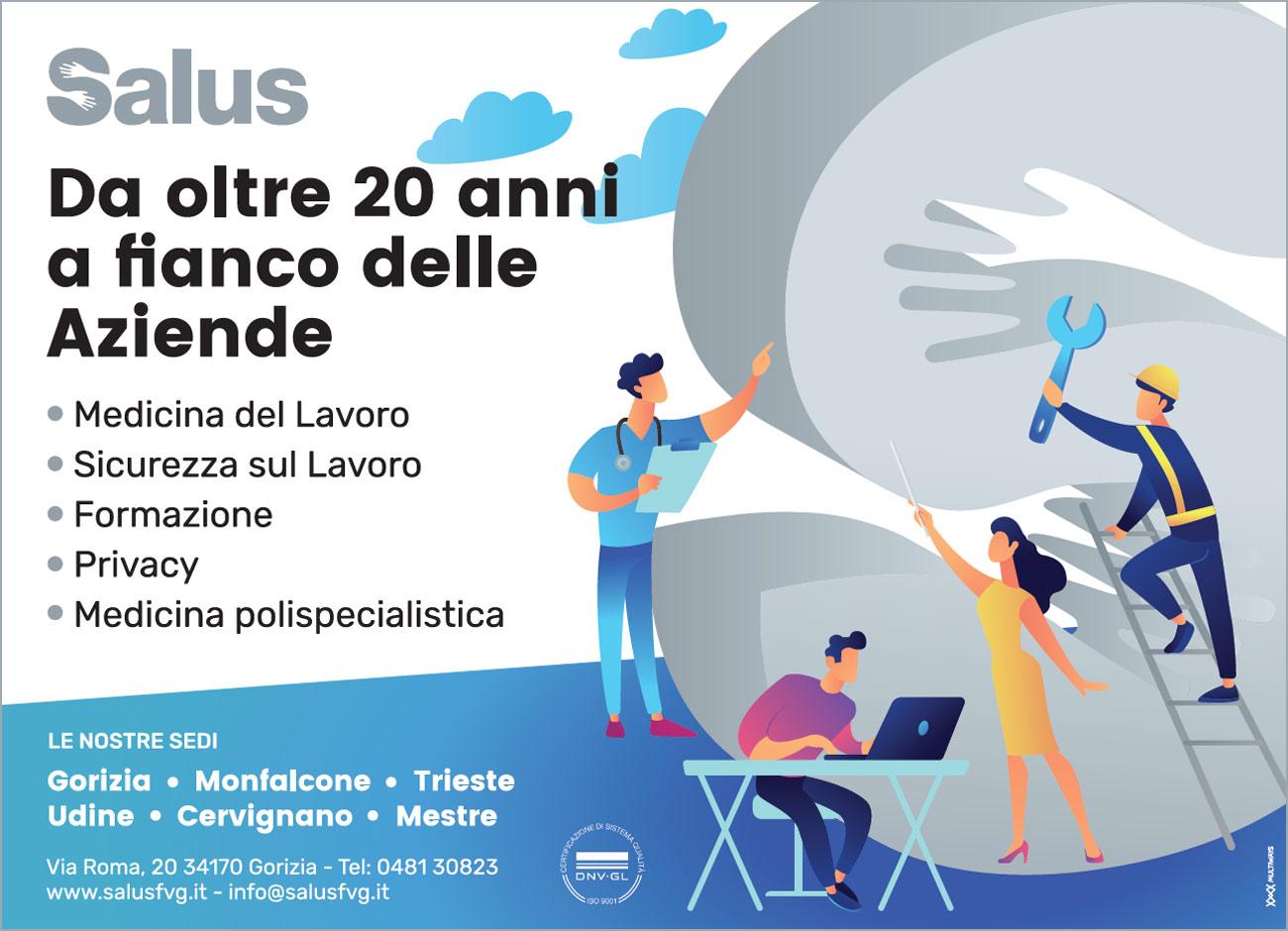 """Pubblicità sul """"Piccolo di Trieste"""" - Salus FVG"""